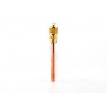 恒森单向充注阀-普通芯 2分 铜管长65mm