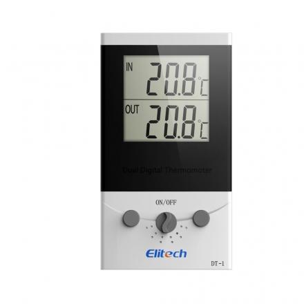 精创冰箱鱼缸家用电子室外温度计DT-1带探头双路测温高精 一内一外