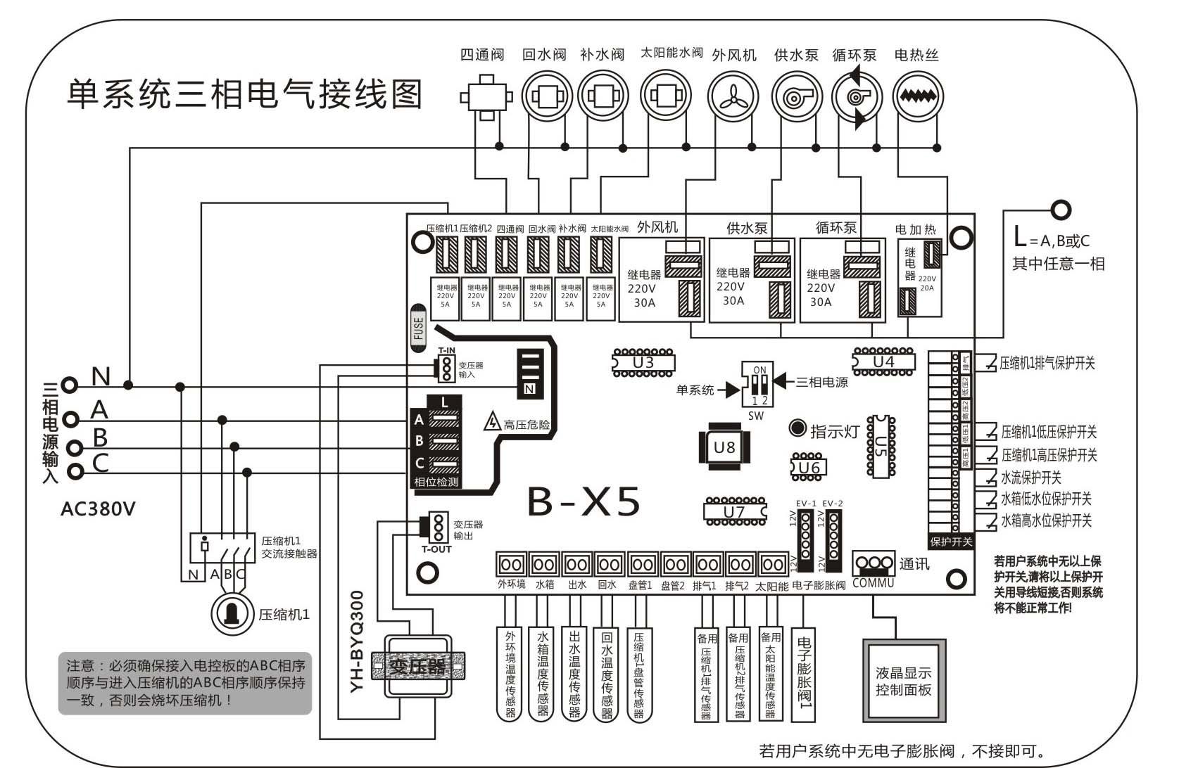 波茵冷水机改装板 b-x5_主机控制板_空调控制_中央_:.
